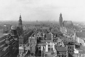 Wrocław, rynek. Widok z lotu ptaka