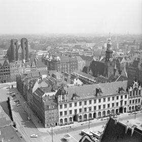 Wrocław - panorama miasta, rok 1968