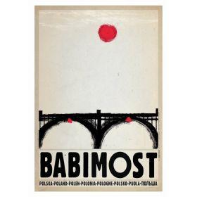 Kartka pocztowa - Babimost (Polska Szkoła Plakatu, Ryszard Kaja)