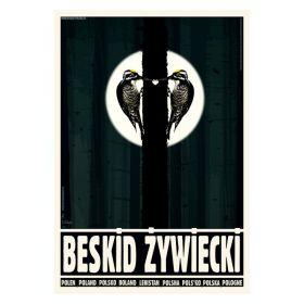 Kartka pocztowa - Beskid Żywiecki (Polska Szkoła Plakatu, Ryszard Kaja)
