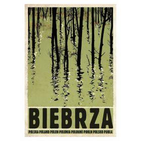 Kartka Pocztowa - Biebrza (Polska Szkoła Plakatu, Ryszard Kaja)