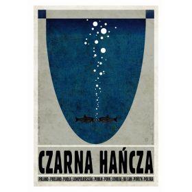 Kartka pocztowa - Czarna Hańcza (Polska Szkoła Plakatu, Ryszard Kaja)