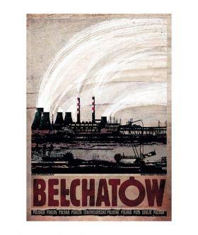 Kartka pocztowa - Bełchatów (Polska Szkoła Plakatu, Ryszard Kaja)