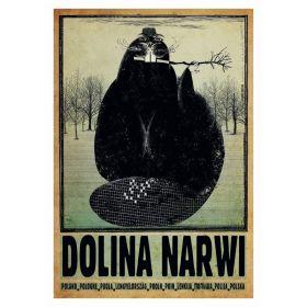 Kartka pocztowa – Dolina Narwi (Polska Szkoła Plakatu, Ryszard Kaja)
