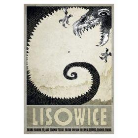 Kartka pocztowa - Lisowice (Polska Szkoła Plakatu, Ryszard Kaja)
