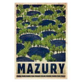 Kartka pocztowa - Mazury, lato (Polska Szkoła Plakatu, Ryszard Kaja)