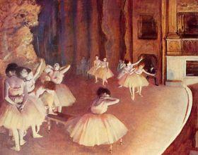 Próba baletowa na scenie - Edgar Degas - reprodukcja