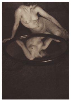 Kartka premium - Kobieta w lustrze