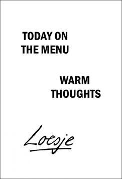 Kartka pocztowa – Today on the menu, Loesje