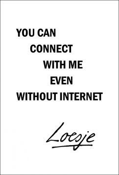 Kartka pocztowa – You can connect, Loesje