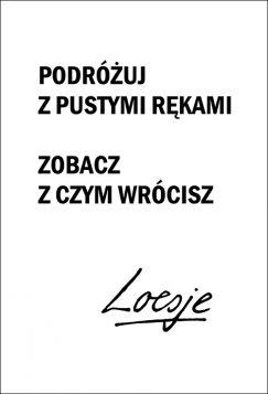 Kartka pocztowa – Podróżuj, Loesje