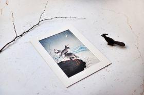 Mewy nad wzburzonym morzem - zdjęcie z passe-partout