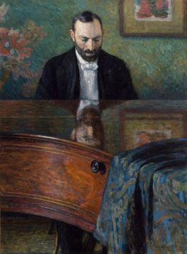 Feliks Jasieński Przy Fortepianie  - Józef Pankiewicz, reprodukcja obrazu