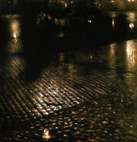 Dorożka w deszczu  - Pankiewicz