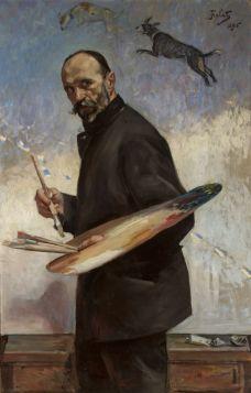 Autoportret - Julian Fałat, reprodukcja obrazu