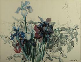Irysy - Leon Wyczółkowski, reprodukcja obrazu