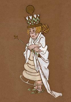 Biała Królowa - Alicja w Krainie Czarów, magnes