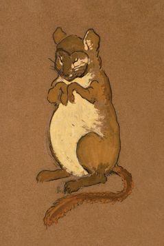 Popielica, mysz - Alicja w Krainie Czarów, magnes
