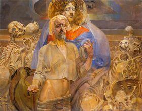 Jacek Malczewski - Proroctwo Ezechiela - reprodukcja