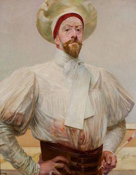 Jacek Malczewski - Autoportret w białym stroju - reprodukcja