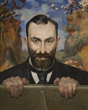 Jacek Malczewski - Portret Feliksa Jasieńskiego - reprodukcja