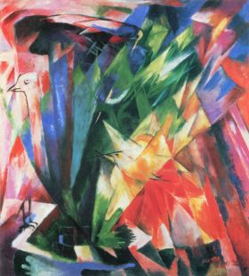 Ptactwo - Franz Marc - reprodukcja