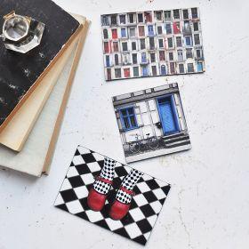 Zestaw magnesów - Kolory, Zdjęcia Vintage