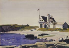 Edward Hopper - Coast Guard Station, Two Lights, Maine - magnes