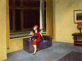 Edward Hopper - Hotel Window - magnes