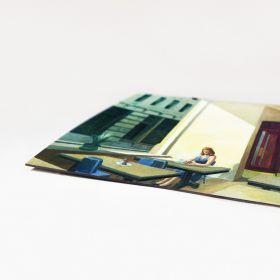 Edward Hopper - Sunlight in a Cafeteria - magnes