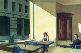 Edward Hopper - Sunlight in a Cafeteria - magnes