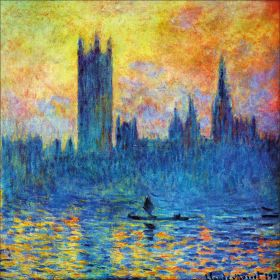 Claude Monet - London Parliament in Winter - magnes