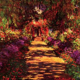 Claude Monet -  Garden Path At Giverney - magnes