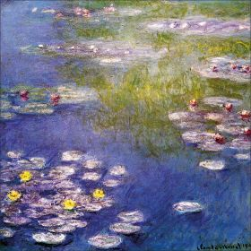 Claude Monet - Nympheas at Giverny - magnes