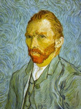 Vincent Van Gogh - Self Portrait, Blue - magnes
