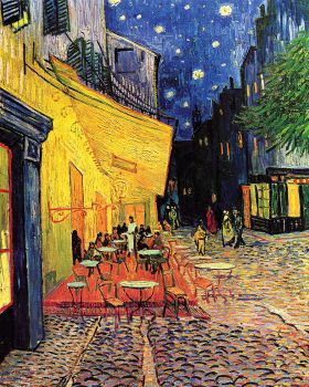 Vincent Van Gogh - The Cafe Terrace on the Place du Forum Arles at Night - magnes