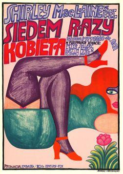 Siedem razy kobieta, plakat filmowy (A. Krajewski)