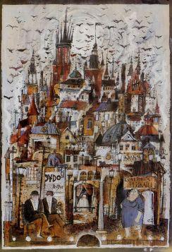 Kraków (R. Kaja) 48x68 cm