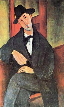 Portret Mario Varvogli (1919), Amedeo Modigliani - reprodukcja