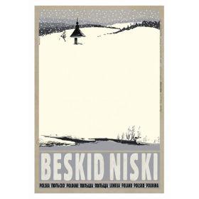Kartka pocztowa - Beskid Niski (Polska Szkoła Plakatu, Ryszard Kaja)