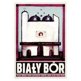 Kartka pocztowa - Biały Bór  (Polska Szkoła Plakatu, Ryszard Kaja)