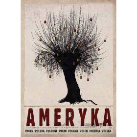 Kartka pocztowa - Ameryka (Polska Szkoła Plakatu, Ryszard Kaja)