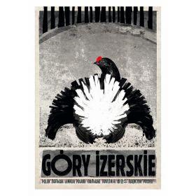 Kartka pocztowa - Góry Izerskie (Polska Szkoła Plakatu, Ryszard Kaja)