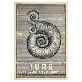 Kartka pocztowa - Jura Krakowsko-Częstochowska (Polska Szkoła Plakatu, Ryszard Kaja)