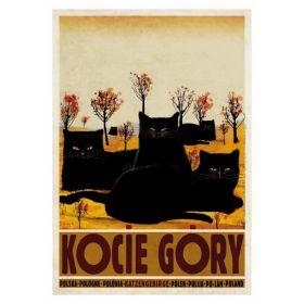 Kartka pocztowa - Kocie Góry (Polska Szkoła Plakatu, Ryszard Kaja)
