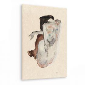 Akt kobiecy, w butach i pończochach - Egon Schiele - reprodukcja