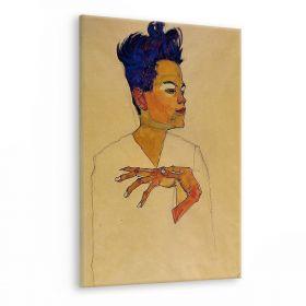 Autoportret z rękami  - Egon Schiele - reprodukcja