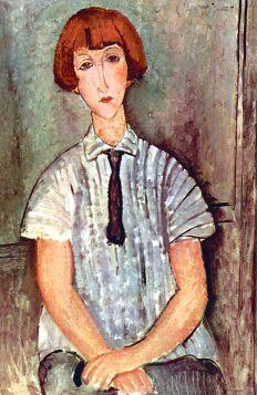 Amadeo Modigliani - Dziewczyna w bluzce - magnes