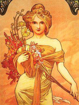 Alfons Mucha- Bouquet - magnes