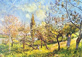 Alfred Sisley - Orchard in spring - magnes